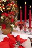 2圣诞节红色表 免版税库存照片