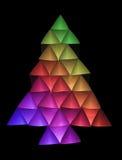 2圣诞节色的结构树 免版税库存照片