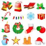 2圣诞节装饰向量 免版税库存照片