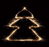 2圣诞节闪烁发光物结构树 库存图片