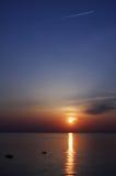 2在日出的海湾 库存照片