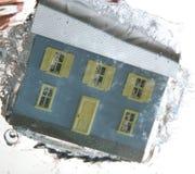 2在水之下的房子 免版税库存图片