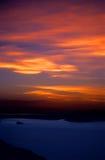 2在秘鲁日落titicaca的火热的湖 库存照片