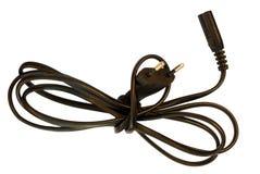 2在针白色的电europlug导电线 免版税库存图片