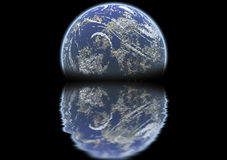 2地球上升 图库摄影