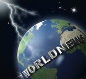 2地球新闻世界 库存图片