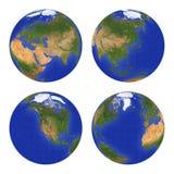 2地球视图 库存照片