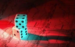 2场赌博投资 免版税图库摄影