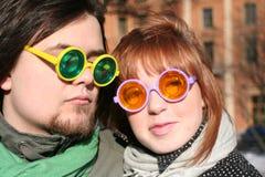 2块夫妇玻璃 免版税库存照片