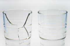 2块玻璃 库存照片