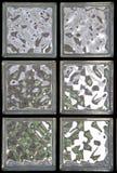 2块砖玻璃窗 免版税库存图片