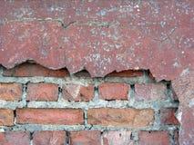 2块砖老墙壁 库存照片