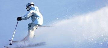 2坡道滑雪 库存图片