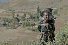 2埃赛俄比亚的女孩 免版税库存照片