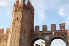 2城市montagnana墙壁 免版税库存图片