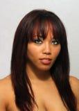 2多种族美好的女孩的headshot 库存照片