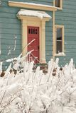 2多雪的门 免版税库存照片