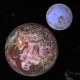 2大行星空间 图库摄影