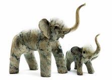 2头大象祝好运没有 免版税库存图片