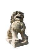 2头狮子雕塑石头 免版税库存图片