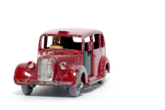 2奥斯汀汽车大城市老出租汽车玩具 免版税库存照片