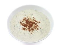 2奶油色汤蔬菜 免版税库存照片
