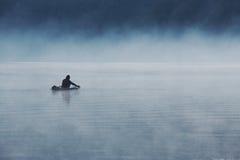 2孤独的渔夫 免版税图库摄影