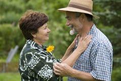 2对夫妇浪漫前辈 图库摄影