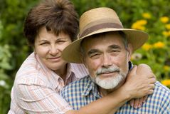 2对夫妇浪漫前辈 免版税库存图片