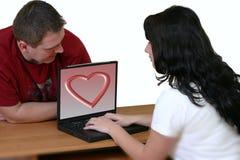 2对夫妇膝上型计算机 免版税库存图片