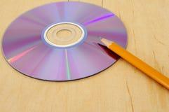 2对文字的光盘 库存照片