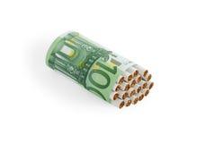 2对ver的多少烟 免版税库存图片