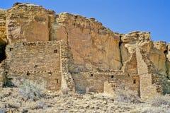 2峡谷chaco废墟 库存图片
