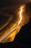 2峭壁晚上海洋太平洋 免版税库存图片