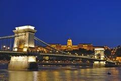 2布达佩斯晚上场面 库存照片