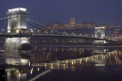 2布达佩斯chainbridge 免版税库存图片