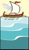 2平衡的希腊军舰 库存照片