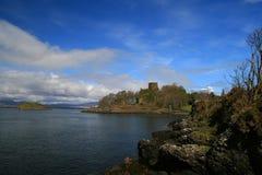 2座城堡dunollie 免版税库存照片