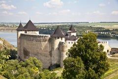 2座城堡hotin 免版税图库摄影