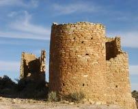 2座城堡hovenweep图象废墟 库存照片