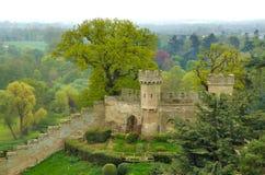 2座城堡warwick 图库摄影