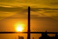 2座桥梁日出狩医 库存照片