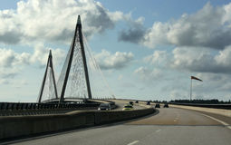 2座桥梁瑞典udevalla 免版税库存照片
