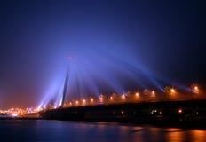2座桥梁雾 图库摄影