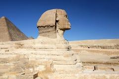 2开罗埃及吉萨棉极大的最近的零件狮身人面象 库存照片