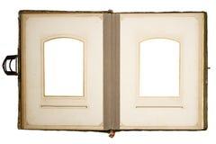 2张册页包括的oldphoto路径照片 免版税库存照片