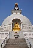 2德里印度shanti stupa 免版税库存照片