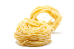 2意大利面食片tagliatele 免版税库存图片
