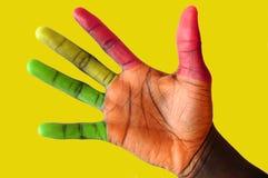 2手指光业务量 库存照片