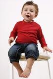 2把凳子小孩 免版税图库摄影